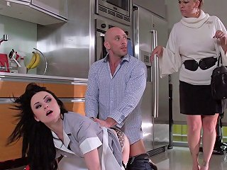 AnyPorn Porno - His Maid Is Quite The Whore And Cleans His Hard Cock Well Any Porn