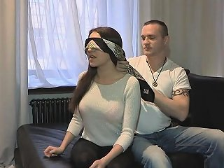 NuVid Porno - Tempting Teen Gf Blindfolded And Banged By Her Bfs Friend
