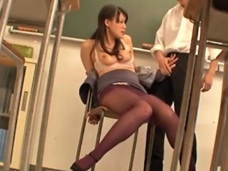 JizzBunker Porno - Japanese Teacher Rough Sex In Classroom