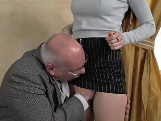 KeezMovies Porno - Grandpa Licks And Fucks Tight Body Brunette Teen Hottie