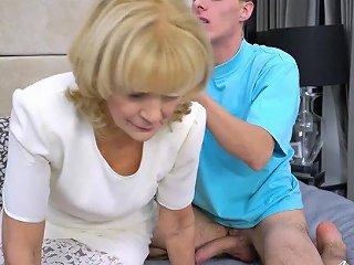 KeezMovies Porno - Agedlove Granny Enjoys Attention Of Horny Guy