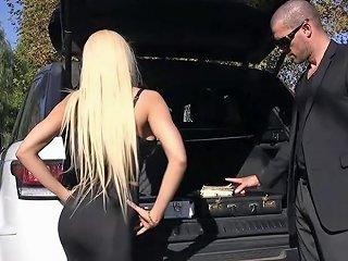 TNAFlix Porno - Tied Up And Blindfolded Blonde Banged Porn Videos