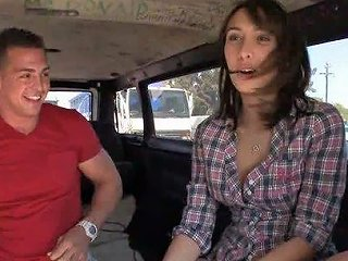 BravoTube Porno - Hot Brunette Teen Gets Fucked Inside A Moving Van For A Reality Porn Video