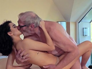 NuVid Porno - Cute Teen Fucked By Big Cock Grandpa Cums In Her Mouth Nuvid
