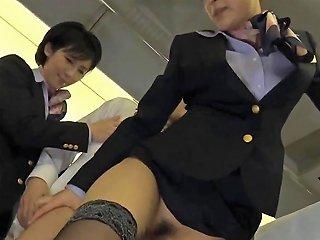 GotPorn Porno - Asian Stewardess Gets Rammed By A Handsome Passenger