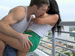 GotPorn Porno - Fantastic Balcony Fuck For All The World To See