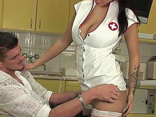 GotPorn Porno - Patient Wont Relax So Good Dentist Sucks His Dick To Calm Him Down
