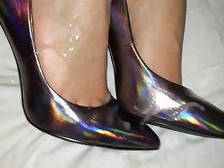 XHamster Porno - Shoejob And Cum On Her Holograph Heels Porn 18 Xhamster